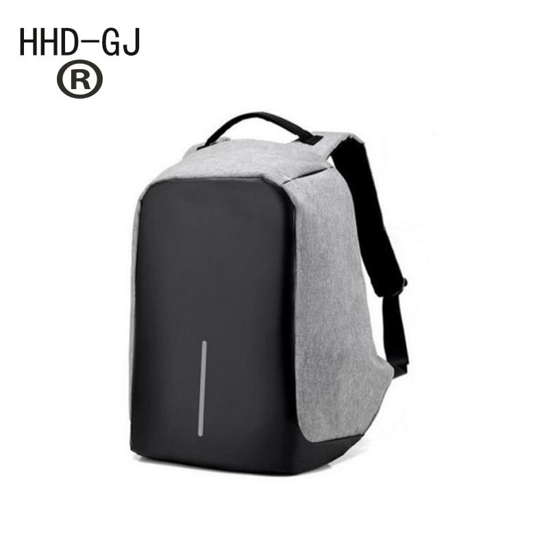 HHD-GJ Senkey style Fashion Backpacks Anti-theft Multifunction USB Charging Men Rucksack 14 inch Laptop Computer Backpack Male