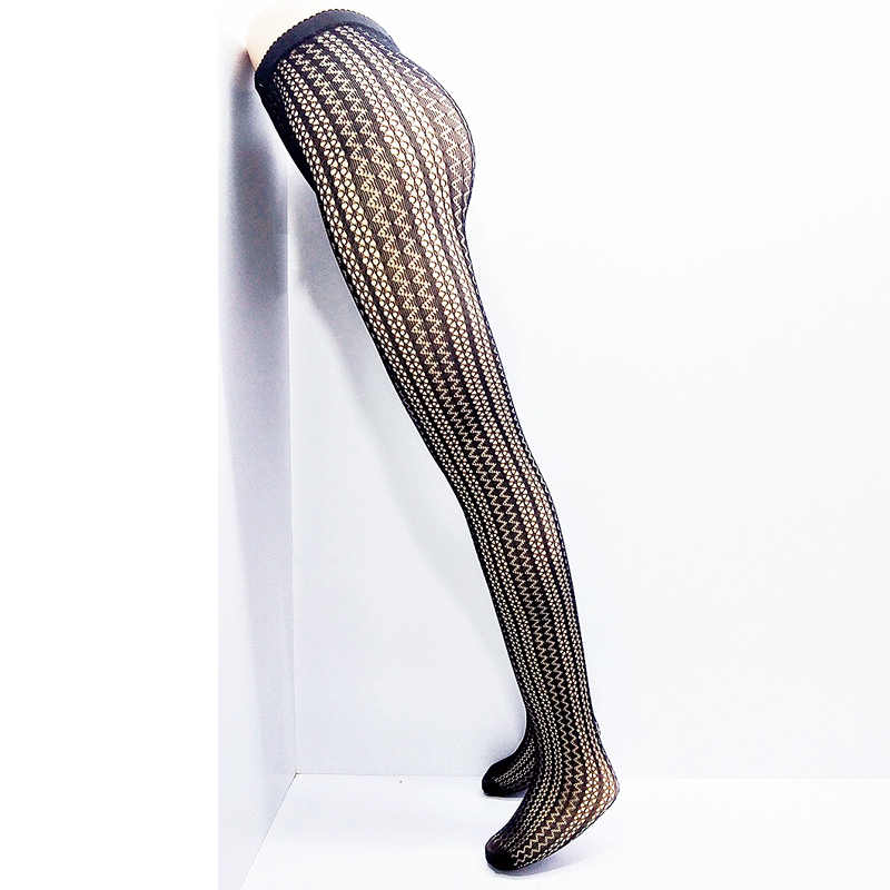 eea4c01dc8b97 LIMSISNIW Thin Looking Fashion Woman Sexy Fishnet Tights with Striped and  Wave Pattern Ladies Tattoo Net