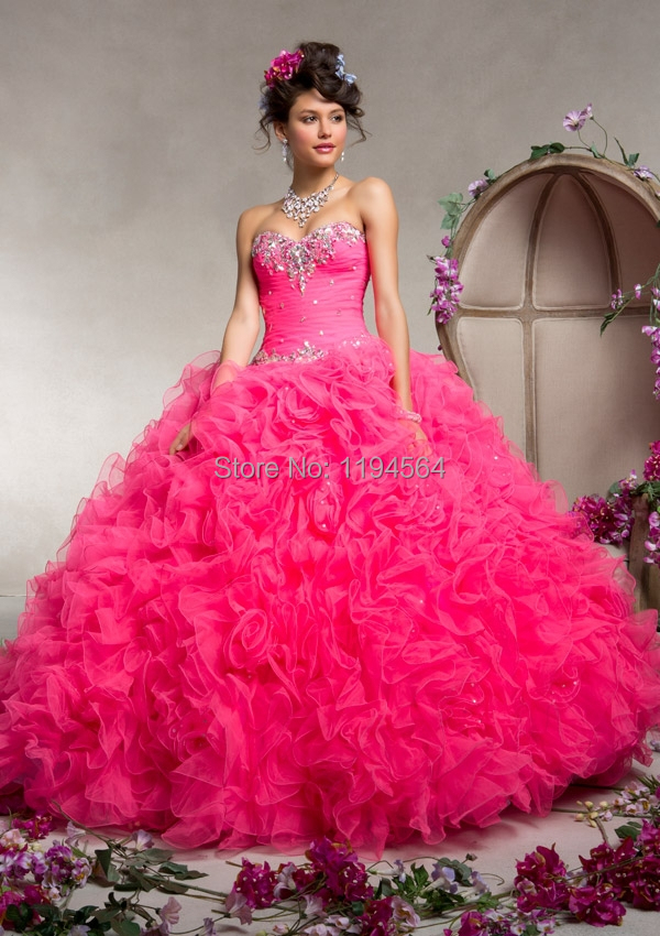 Online Buy Wholesale hot pink sweet 16 dresses from China hot pink ...