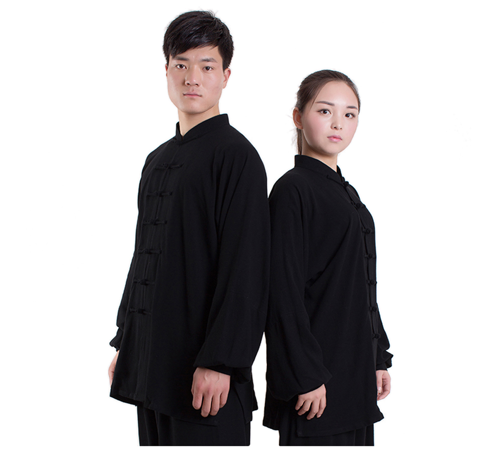 все цены на 2018 High Quality Cotton Tai Chi Uniform Kung Fu Wushu Clothes Exercise Clothing Martial Arts Suit Jacket+Pants онлайн