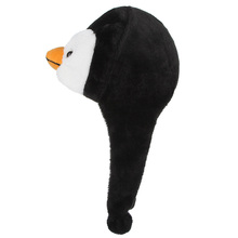 1PCS Cartoon Animal Penguin Mascot Plush Warm Cap Hat Warmer New earmuffs gorro hats For Childrens pictures