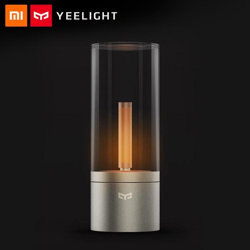 Original Xiaomi Yeelight Candela Led Night Light MIJIA Smart Electric Candle Bougie Led Ambient Lamp Mi Home App Remote Control
