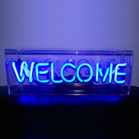 Personality bar night light decoration bedroom party bar iron box neon party light night lamps colur art desk lamps ZA428048