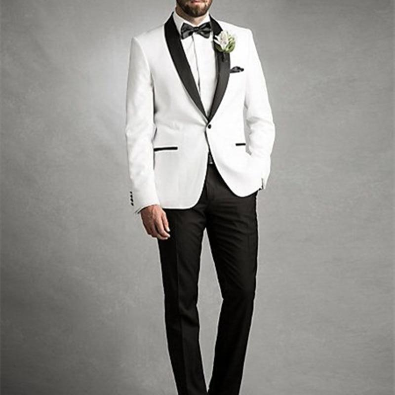 Men White Wedding Suits 2017 Men Suits Slim Fit Groom