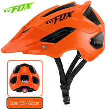BATFOX Cycling Helmet Bicycke MTB Bike Helmets Orange Men Mountain Safety Ridding Fietshelm Women Ultralight Outdoor Sports Helm