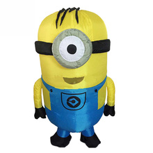 2019 Minion Inflatable Costume Halloween Cosplay Party Adult Mascot For 1.5-2m and Child