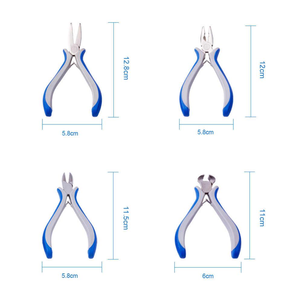 8 unids/set joyería alicates conjuntos de herramientas bricolaje manualidades fabricación de joyas equipo aguja larga ronda corte de la nariz de alambre