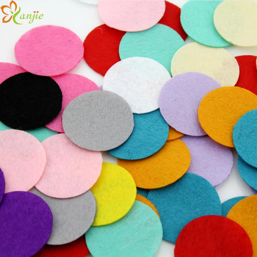 1000pcs/lot 40mm Felt Pads 100pcs/color/bag For Girls And Kids Felt Circles DIY Hair Accessories Flower Headband Hair Bows