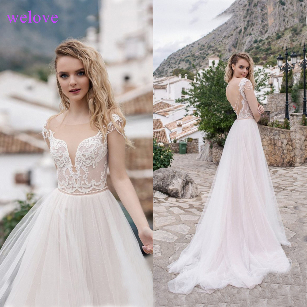Wedding Dresses 2019 Beach Boho Wedding Dress Maternity Pregnant Bridal Gowns Backless White Lace Chiffon Vestige De Noiva