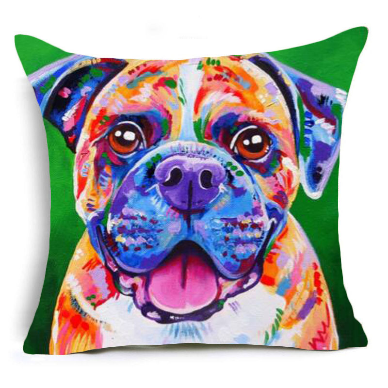 Watercolor animals pattern Throw Pillow Case Couch Linen Cotton Pillow Cover Cushion Cover Seat Cover Sofa Decorative 43*43