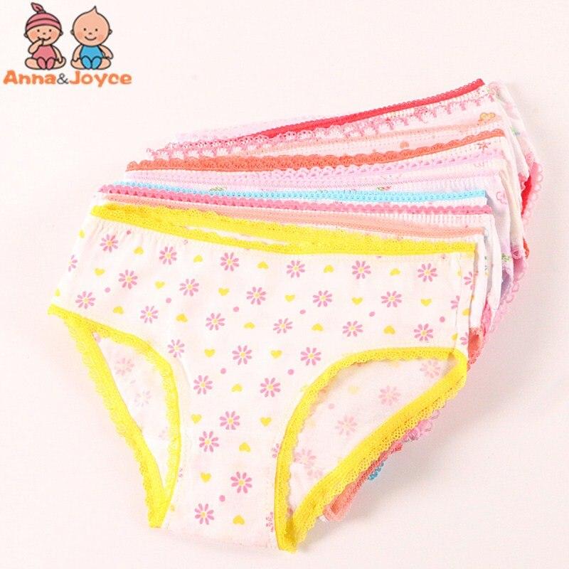 12pcs Toddler 0-12T Baby Kids Brief Short Underwear Girls Soft Cotton Pantie Set