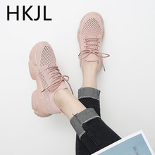 HKJL Fashion Summer mesh sports shoes hollow socks breathable female 2019 new casual wild old net A530