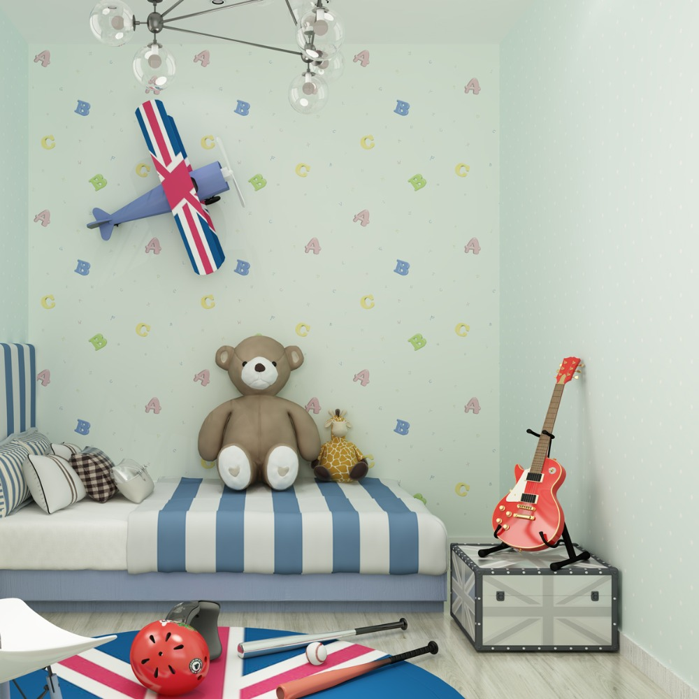 Kids room Wallpapers Boys Girls Import Nonwovens Cute