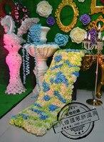The wedding arrangement wedding Artificial wedding silk rose arch flower wall wedding decoration flower row flower wall 2pcs/lot