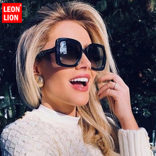 LeonLion 2019 Square Big Frame Sunglasses Women Candy Colors Gradient Oculos Feminino Street Beat Gafas De Sol Mujer