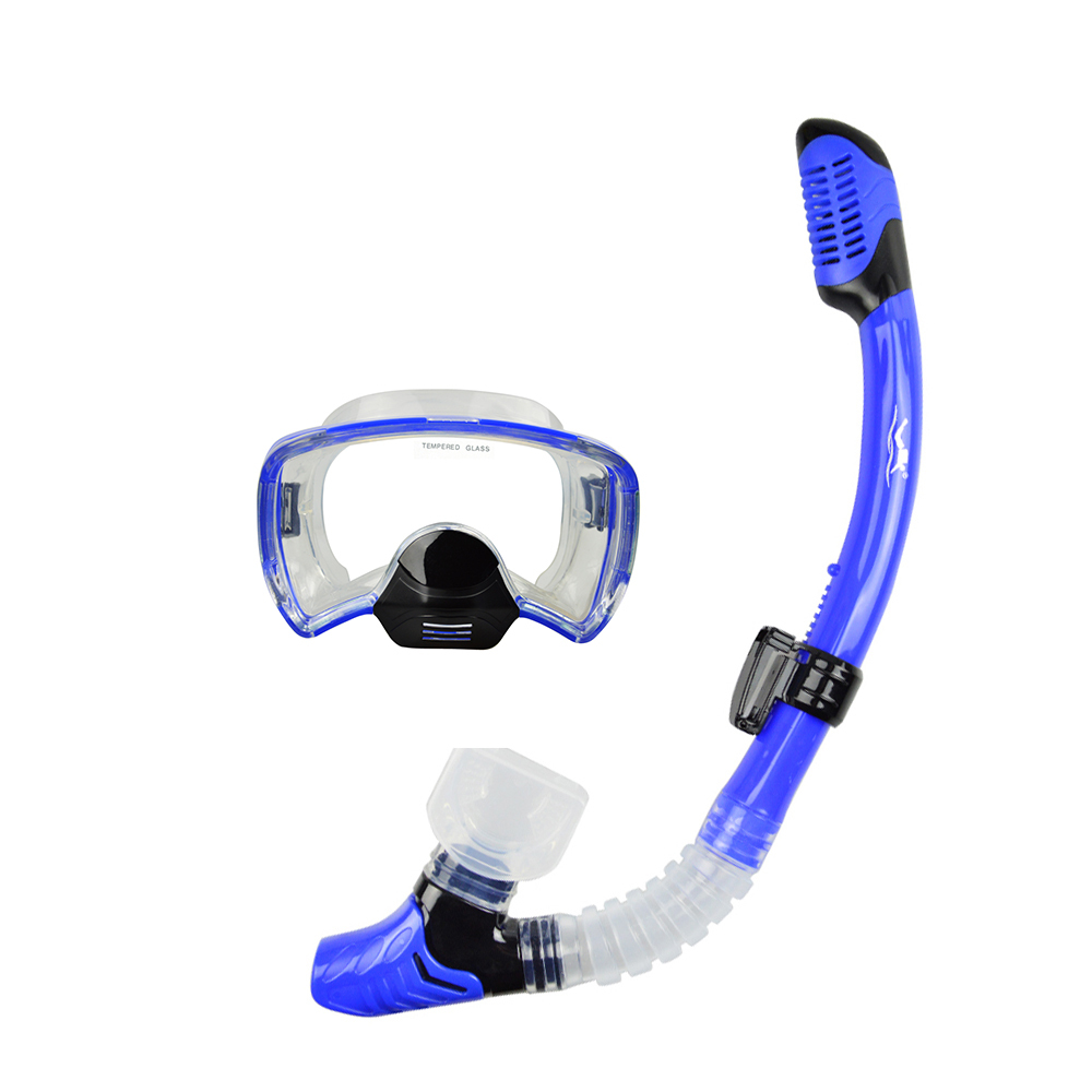 Layatone Snorkel Set Dykmask Tempererad Glas Spearfishing Utrustning Snorkel Gears Undervattens Freediving Snorkel Set MS-272122