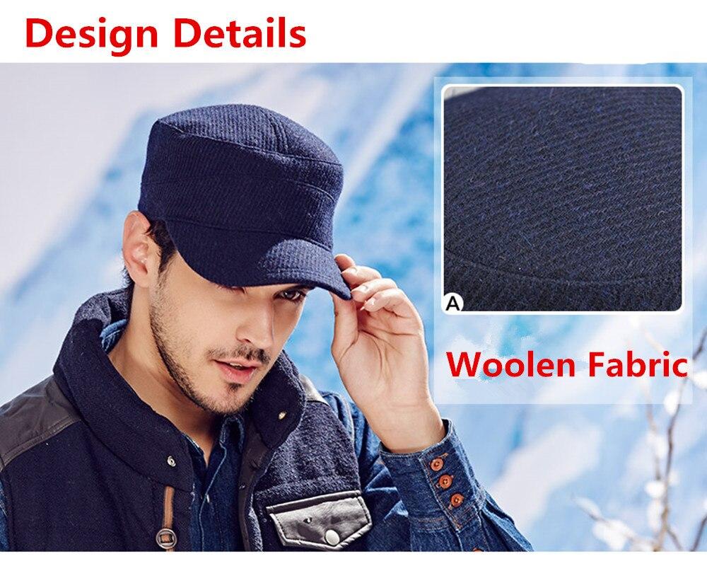 1c5524c5e76 New KENMONT Men Woolen Army Cadet Military Visor Hat Fashion Autumn ...