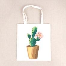 Large Capacity Summer Beach Bag Lady 3D Cactus Flower Printed Shoulder Bag Female Tote Handbag Women Shopping Bag BB273