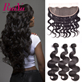 13X4 Ear to Ear Lace Frontal Closure With Bundles Body Wave Malaysian Virgin Hair With Closure 100%Ruiyu Human Hair With Closure
