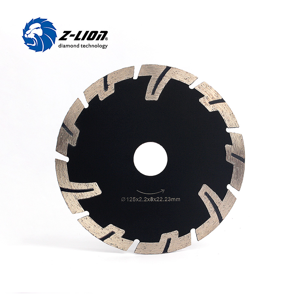 Z-LION 125mm Diamond Saw Blades Dry Wet Cutting General Purpose Power Saw T Segmented Diamond Blades For Granite Stone Concrete