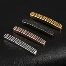 Silver/gold/rose gold/black 4 colors  copper fashion jewelry accessories rectangular connectors for beaded bracelet diy