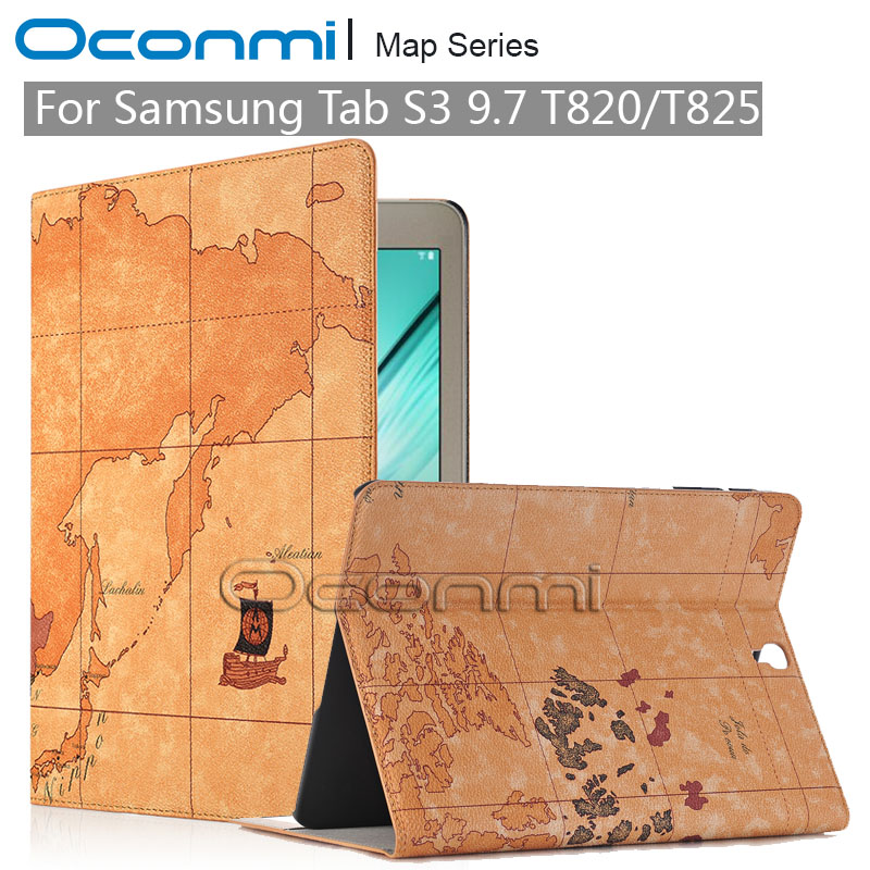 High Quality World Map PU Leather Case for Samsung Galaxy Tab S3 9.7 SM-T820 SM-T825 cover for Samsung Galaxy Tab S3 9.7 case планшет samsung galaxy tab s3 9 7 sm t820 wi fi 32gb черный