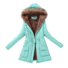 Women Parka Fashion Autumn Winter Warm Jackets Women Fur Col
