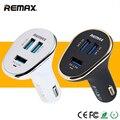 REMAX USB Смарт-Зарядное Устройство Автомобиля Выключатель Питания 3 Порта 6.3A Супер быстрая Зарядка Розетка Для iPhone 6 s Tablet Смартфон MP3 MP4