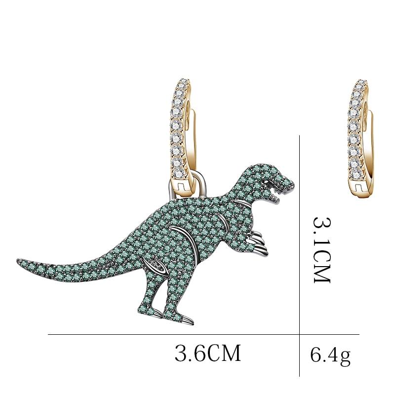 Cute Dinosaur New Fashion Simple Metal Drop Earrings For Women Lovers Ear jewelry Gift Accessories Dangle 6