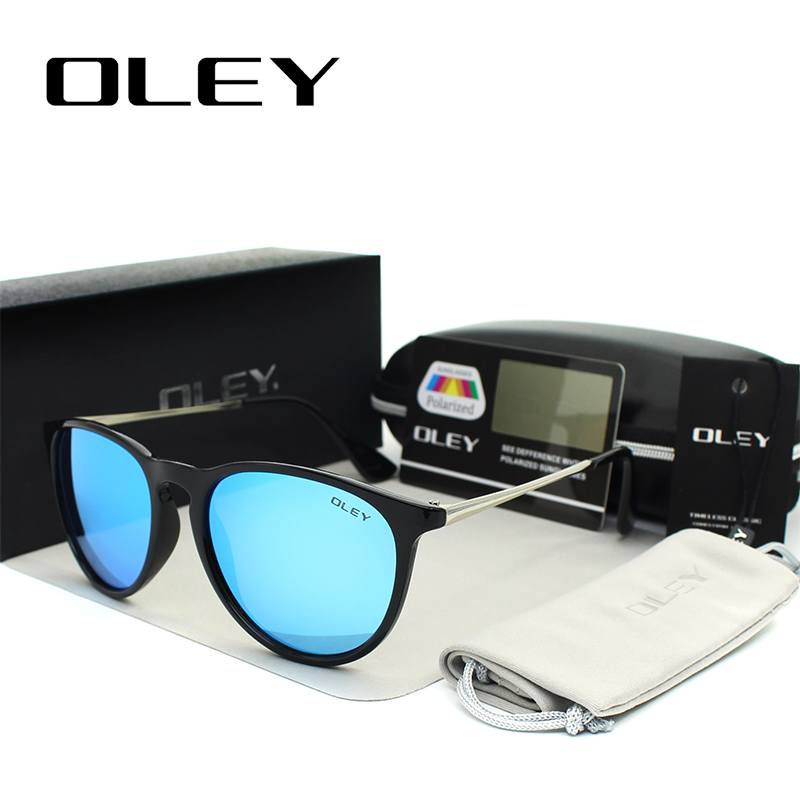 OLEY Polarized sunglasses women Retro Style Metal Frame Sun Glasses coating Famous Lady Brand Designer Feminino Y4171