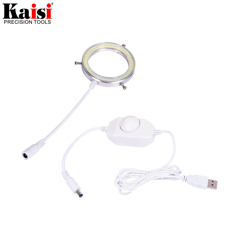 Image 3 - Kaisi Ultrathin 60 LED Adjustable Ring Light illuminator Lamp For STEREO ZOOM Microscope USB Plug-in Microscopes from Tools