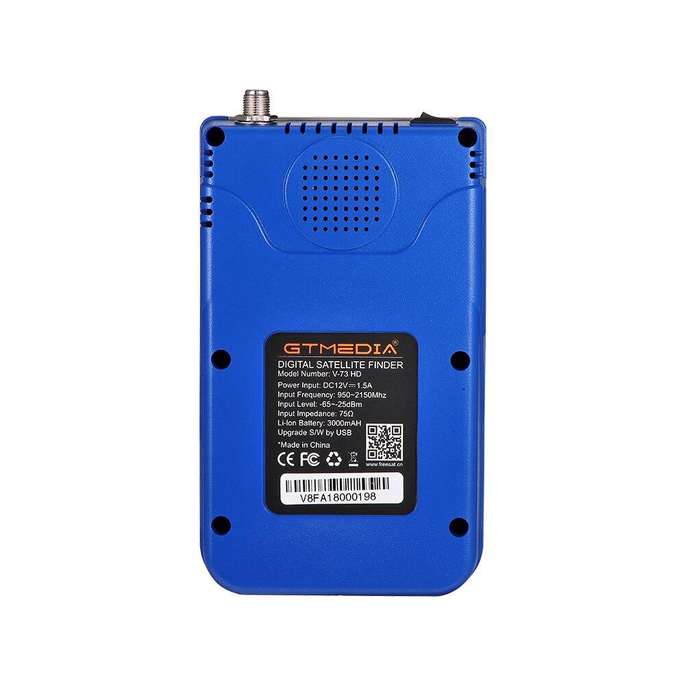 Image 5 - Newest Satellite Finder GTmedia V8 Finder Meter Satfinder Measurements of DVB S/S2/S2X signals HD 1080P Sat Finder with Battery-in Satellite TV Receiver from Consumer Electronics
