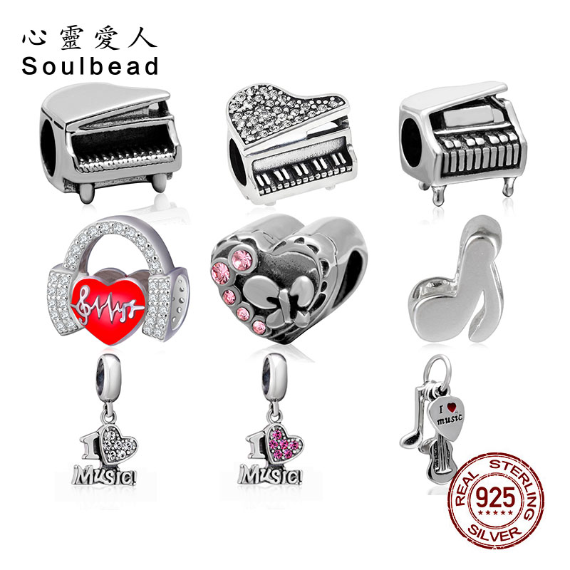 Soulbead 925 Sterling Silver Love Music