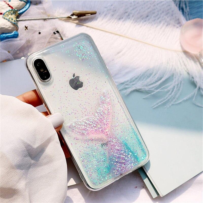 For xiaomi mi 9 8 lite mi A1 A2 lite A3 case Cute 3D glitter Dreamy mermaid for redmi 6A Note 5 6 7 Pro Transparent phone cover