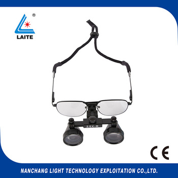 ENT Galilean magnifier 2.5x loupes surgical dental Loupe free shipping 1set|Lamp Bases|Lights & Lighting -