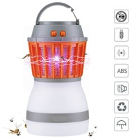 USB Rechargeable Mosquito Killer Lamp Dimmable Camping Lantern Built in Insect Trap IPX6 Waterproof for Home Traveling Picnic