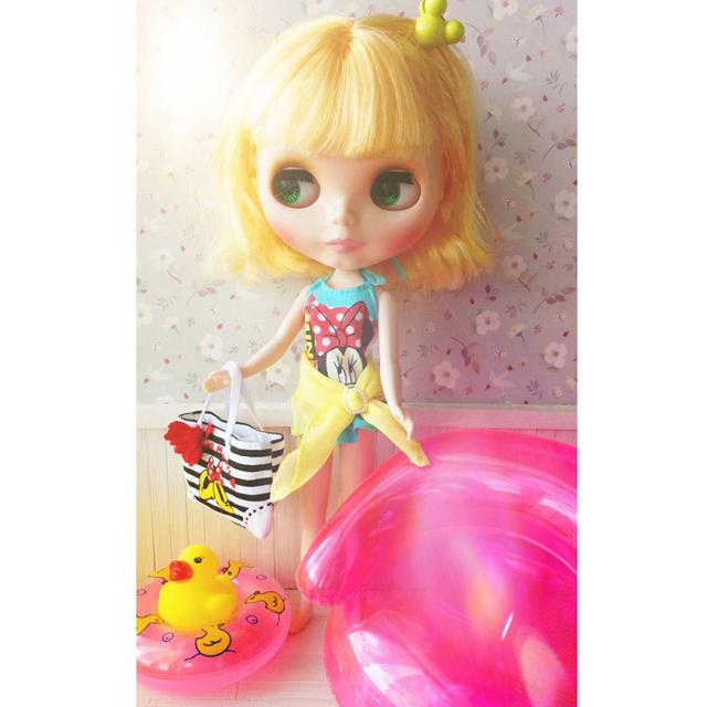 Cute Mini Swimming Suit For 1/6 Doll 4 pcs Set
