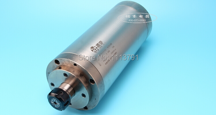 Zhenyu ER25 modèle 5.5 kw moteur de broche de machine de gravure, broche refroidie à l'eau, 4 roulements à billes en céramique