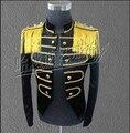 Vstinus negro brillante para hombre trajes del cantante noche DS rendimiento trajes para hombre de la marea trajes de punk ropa del club nocturno del banquete del vestido