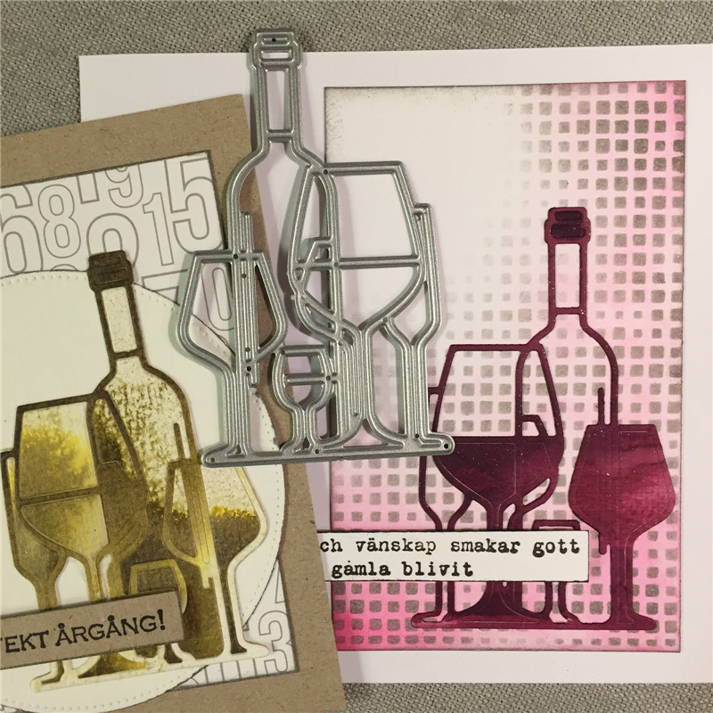 GJCrafts Wine Bottle Metal Cutting Dies New 2019 For Craft Dies Scrapbooking For Card Making Album Embossing Paper Stencil Decor