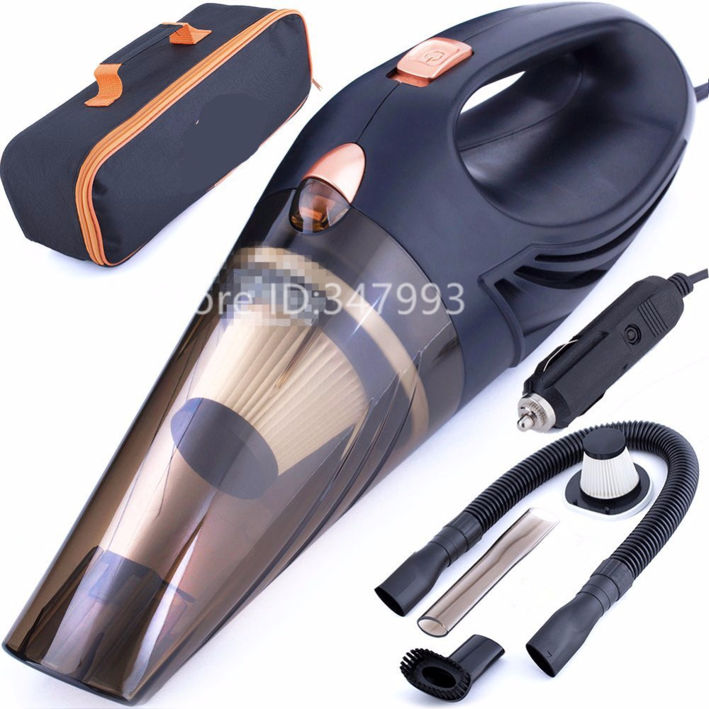 4800pa suck Car Vacuum Cleaner which makes your auto interior dirt free with high power 120W motor HEPA filter extra carry bag
