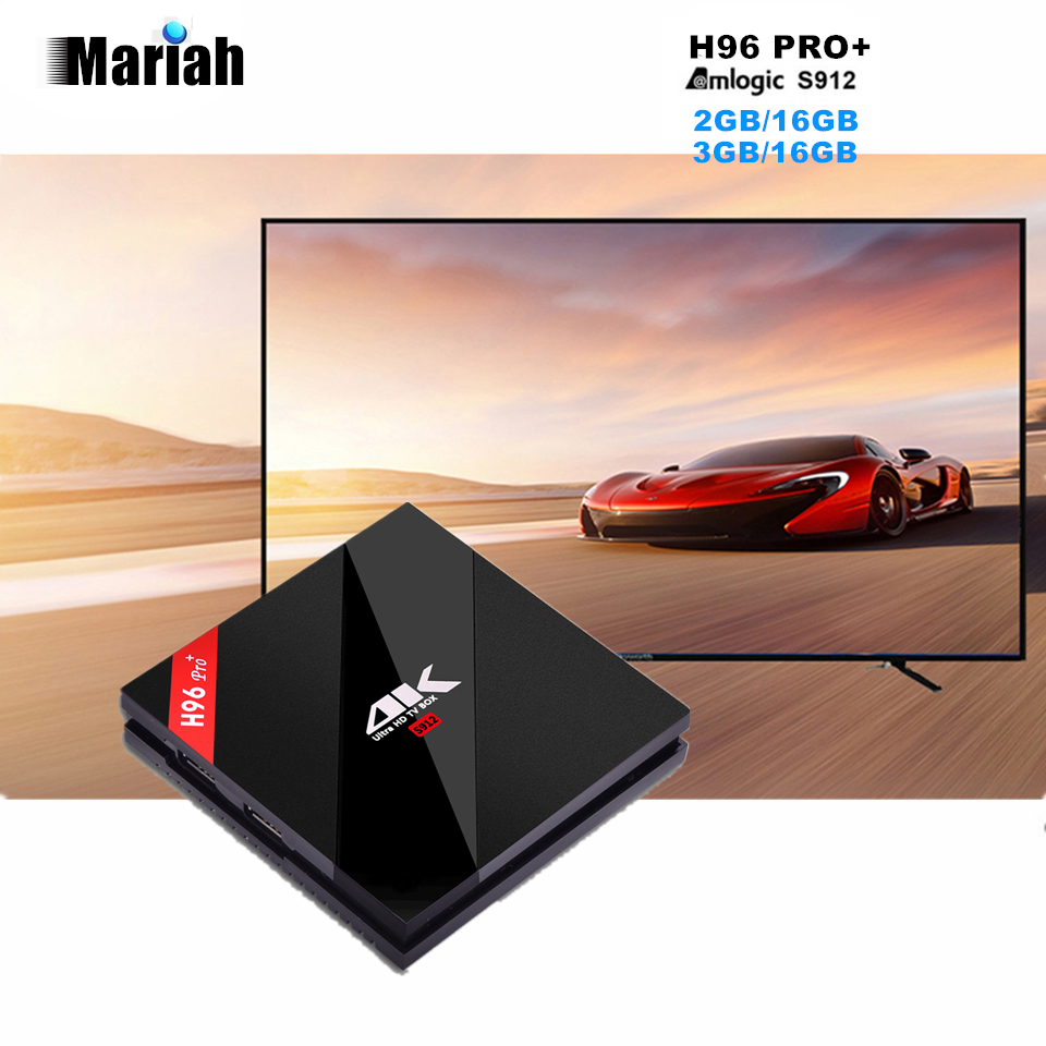 ФОТО 10pcs Original H96 Pro+ TV Box 3GB+16GB S912 64Bits Media Player Android 6.0 2.4G/5.8G WiFi Bluetooth 4.1 APK DLNA Miracast