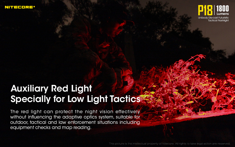 1800 Lumens Nitecore P18 Tactical Flashlight (8)