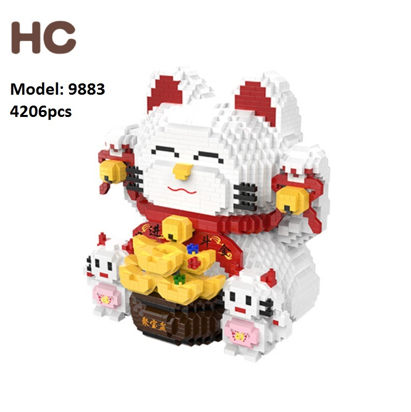 4206pcs HC Mini Blocks Chinese Style Cat Building Bricks Cartoon Model Bricks Toys For children Gifts
