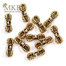 Металлические бусины шармы 20 шт/лот 7*15 мм позолоченные тибетские