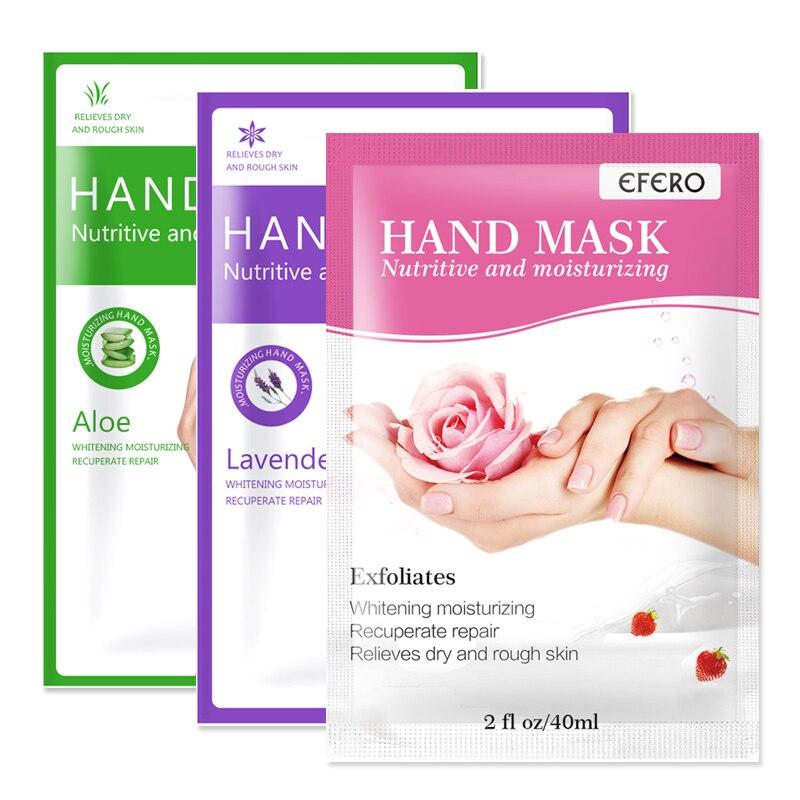 Hand Mask Paraffin Exfoliating Mask for Hands Care Peeling Moisture Whitening Mask for Hands Gloves Rose/ Aloe /Lavender Serum