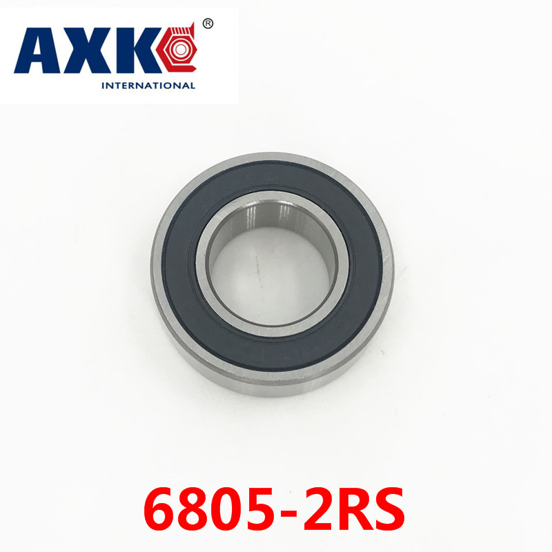 Axk <font><b>6805</b></font>-2rs Bearing Abec-1 (10pcs) 25x37x7 Mm Thin Section <font><b>6805</b></font> 2rs Ball Bearings <font><b>6805</b></font> <font><b>Rs</b></font> / 61805 image