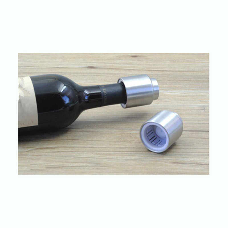 Hot Sale Stainless Steel Wine Stopper Vacuum Pump Red Wine Bottle Stopers Standard Wine Storage Plug 1 PC Retail / Wholesale