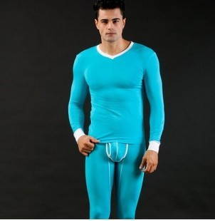 Invierno Ropa Interior Térmica Hombres Long John Set Cómodo Modal Hombre Apretada Ropa de Dormir Pijamas Set Pijama Masculino Bolsa Abierta de la Buena Calidad