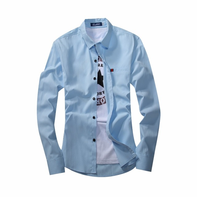 bafe3bcd7 Hot Sale New Spring Fashion Long Sleeve Mens Dress Shirts Casual Men Shirt  Designer Male Suit Shirt M~XXXL, camisa masculina